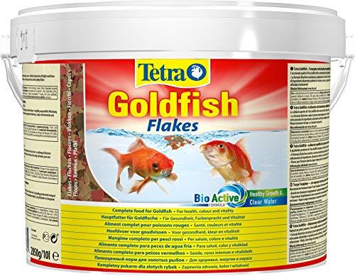 Tetra Goldfish Flakes, Flockenfutter für alle Goldfische und andere Kaltwasserfische, 10 L Eimer