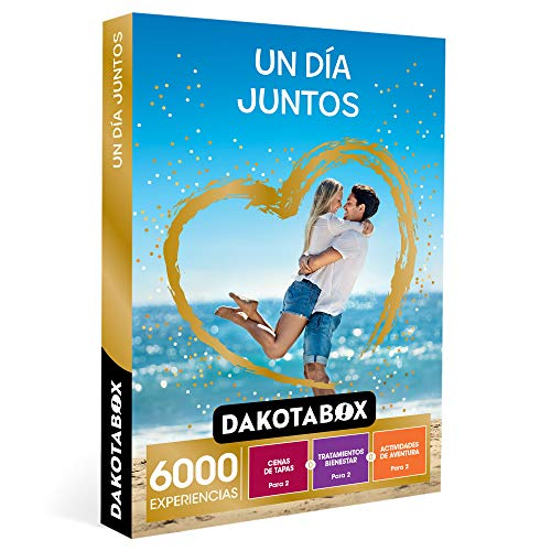 DAKOTABOX - Caja Regalo hombre mujer pareja idea de regalo - Un día juntos - 6000 experiencias para disfrutar en pareja como spas, rutas en kayak y cenas de tapas
