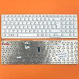 DE Weiß Tastatur mit Silber Rahmen ohne Beleuchtung Ver.2 für Sony Vaio SVE17