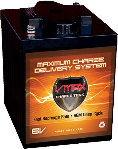 VMAX6-225 GC2 AGM Deep Cycle Battery Replacement for E-Z-GO MPT 800 6V 225Ah Golf Cart Battery