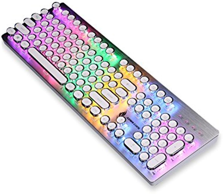 ADream Hintergrundbeleuchtete mechanische Gaming-Tastatur Standardtasten Vintage USB-Tastatur (Silber (Silber (Silber  Weiß) B07J5WX5HH   | Ab dem neuesten Modell  4d6061