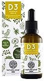 NATURE LOVE® Veganes Vitamin D3 1000 (Cholecalciferol, 50ml flüssig) - Laborgeprüfte 1000 I.E. pro Tropfen - Hochwertig: Gewonnen aus Flechten - Hochdosiert, in Deutschland produziert