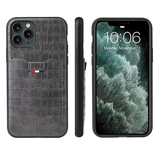 RZL Teléfono móvil Fundas para iPhone 12/12 Pro / 12 Pro MAX 12 Mini, Cuero de Cuero de Cuero de Cuero de Cuero de cocodrilo Caja de la Tarjeta Caja clásica para iPhone 11 12 Pro MAX