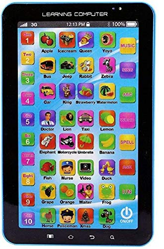 Hardik Toys P1000 Educational Learning Computer Tablet for Boys and Girls (Upto 3 Years of Age)