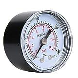 Manomètre Mécanique, 1/8 pouces BSPT Jauge de Pression Axiale pour l'Air, l'Huile et l'Eau(0-200psi,0-14bar)