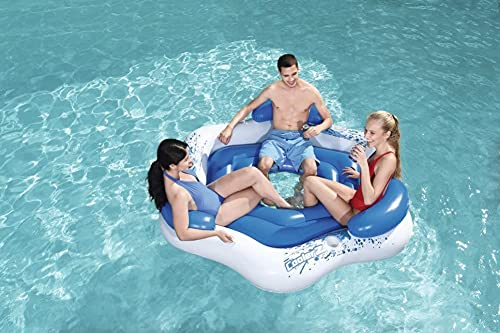 Denny International Inflatable Floating Lounger for upto 3 Person Island...
