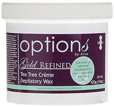 Hive 425g Options Gold Refined Tea Tree Cream Depilatory Wax
