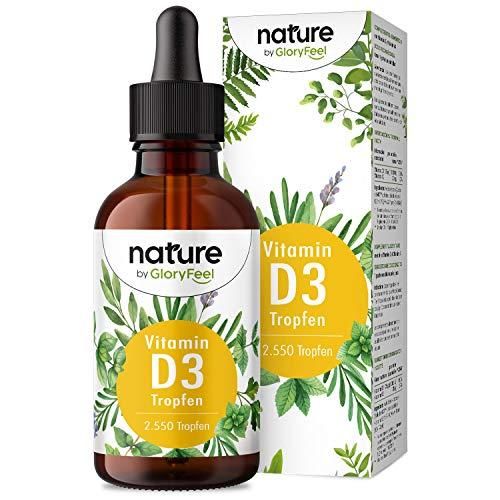 Vitamin D3 Tropfen (75ml flüssig) - Laborgeprüfte 1000 I.E. pro Tropfen - 2550 Tropfen In MCT Öl aus Kokos - Hochdosiert ohne Zusätze in Deutschland hergestellt