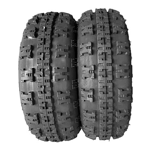 Set of 2 Front ATV Tires 4PR Tubeless 21x7-10 or 21x7x10 4ply P348 205 lbs 21x7x10'' Tire