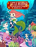 Little Mermaid Coloring Book For Kids Ages 4-8: Cute Various Coloring illustration, Mermaids, Sea...