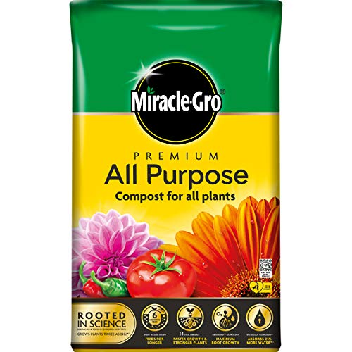 Miracle-Gro Purpose Compost - 50 Litre BAG (New 2021 Range) Compost, Yellow