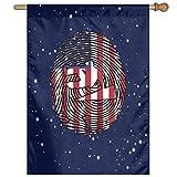 HLw Parkour US Bandiera Americana Dna Benvenuto Bandiera di Gioco Bandiera Verticale per Interni all'aperto 27 x 37 Pollici