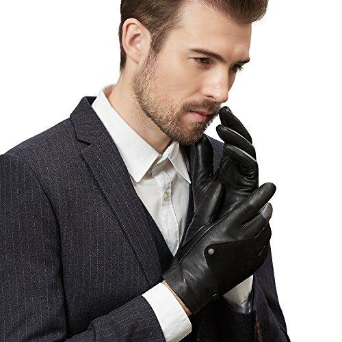 【GSG】革手袋 メンズ スエード レザーグローブ 冬 防寒 スマホ おしゃれ ドライビンググローブ 皮 男性 ドライブ ドライバー 運転 バイク 車用 プレゼント ギフトにもお勧め 170603