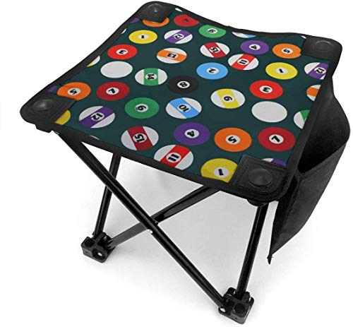 liang4268 Camping Hocker Billiards Folding Camping Stool Small Portable Camp Chair for Fishing Hiking Gardening Beach with Carry Bag.