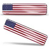 Biomar Labs® 2 pcs 3D Gel Pegatinas Bandera Nacional USA Estados Unidos Flag Silicona Adhesivo Autos Coches Motos Ciclomotores Bicicletas Ordenador Portátil F 27