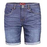 BlauerHafen - Pantalones cortos para hombre, diseño vaquero azul claro 34W (cintura 79/81 cm)