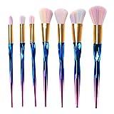 CHENG 7Pcs Gradiente Sirena Pinceles De Maquillaje Set Pinceles De Maquillaje Profesional Herramienta Cosmética Belleza Multiusos