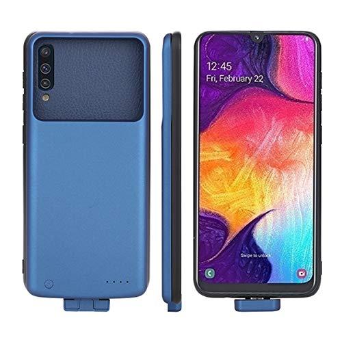 Compatible con Samsung Galaxy A50 Funda Batería, 7000mAh Externo Recargable Cargador de Batería Banco de Energía Portátil Extendido Backup Extra Pack Power Cubierta Protectora para Samsung A50 Blue