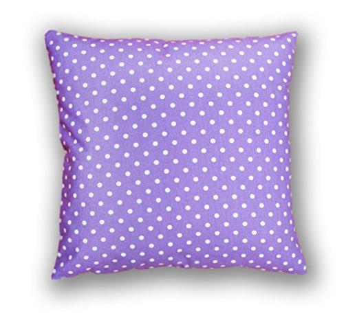 Amilian® Dekokissen Kissenbezug Kissen 80cm x 80cm Pünktchen Violett (A4)