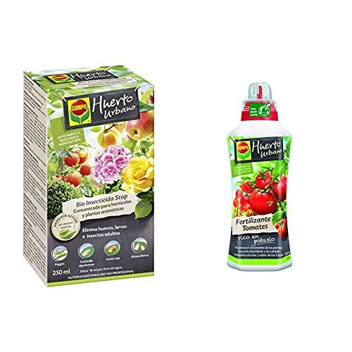 Compo Bio Stop Insecticida Concentrado para Hortícolas, Apto para Agricultura Ecológica + Fertilizantes para Todo Tipo De Tomates, Fertilizante Líquido Natural, 500 Ml