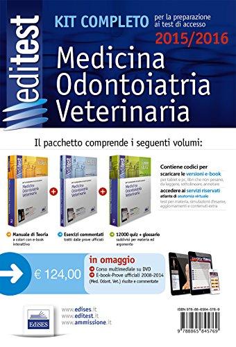 EdiTEST 1. Kit completo di preparazione ai test di accesso in medicina, odontoiatria, veterinaria. Con DVD. Con espansione online