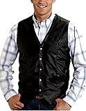 Roper Men's Action Leather Vest, Black, 4XL