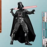 FATHEAD Darth Vader-Life-Size Officially Licensed Star Wars Removable Wall Decal, Premium - with Ancillary