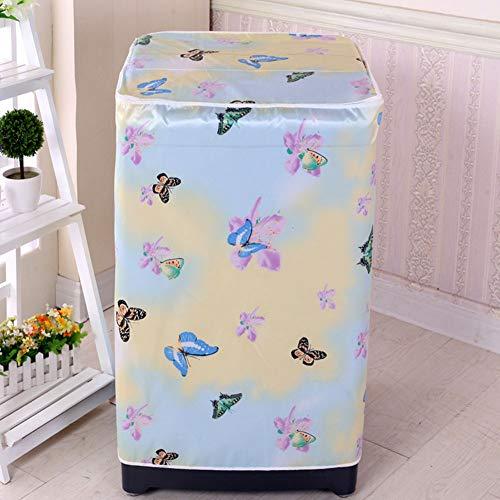 Almabner Waschmaschinenbezug mit Blumenmuster, staubdicht, passend für die meisten Waschmaschinen-Waschmaschinen, 6, Free Size
