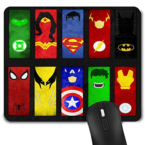 Gaming Mouse Pad Superheros, Game Computer Mousepad for Laptop and Desktop, Cute Funny Mouse Mat for Kid and Office Gift