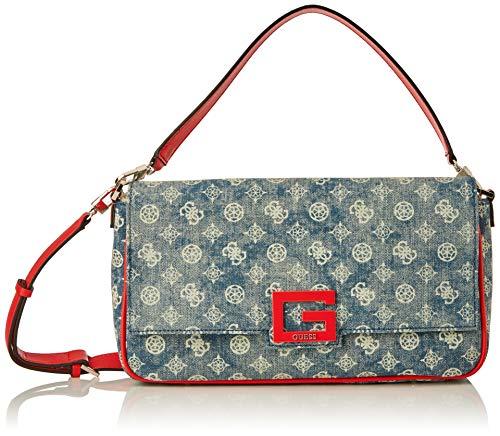 Guess Brightside Large Shoulder Bag, BAGS CROSSBODY para Mujer, Denim Multi, Talla...