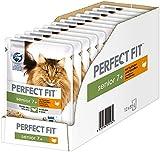 Cibo umido per gatti Senior 7+, con tacchino e carote in salsa, 12 sacchetti per porzioni (12 x 85 g)