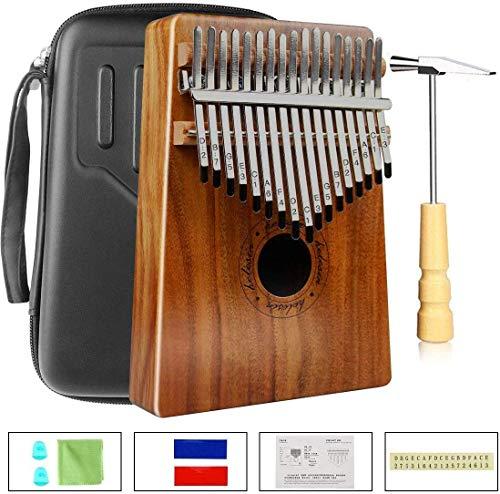 Kalimba 17 Schlüssel, Daumenklavier Kalimba Thumb Piano Finger Solide Kalimba Instrument mit Wasserdichte Schutzbox (KOA)…