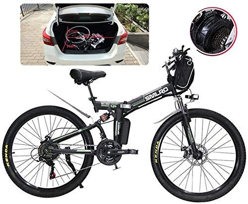 Leggero Biciclette for adulti elettrico pieghevole Comfort Biciclette biciclette ibride Recumbent / Road 26 pollici montano pneumatici bici elettrica 500W motore 21 costi Maiusc for City Travel Commut