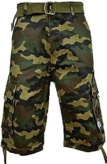 Pro Club Men`s Twill Cargo Short Pants - Green Camo