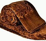 Cloth Fusion Celerrio Mink Single Bed Blanket (Chocolate Brown)