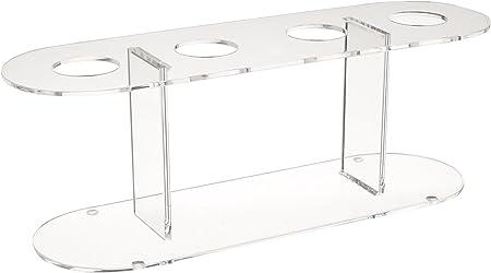 Set of 2 Winco ACN-4 Acrylic 4-Hole Ice Cream Cone Stand
