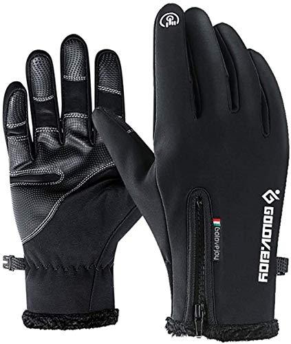 Facio Touchscreen Fahrradhandschuhe, Winter Fahrradhandschuhe für Herren Damen Outdoor Winddicht Touchscreen Handschuhe für Lauf Radfahren Jagd Sports (L)