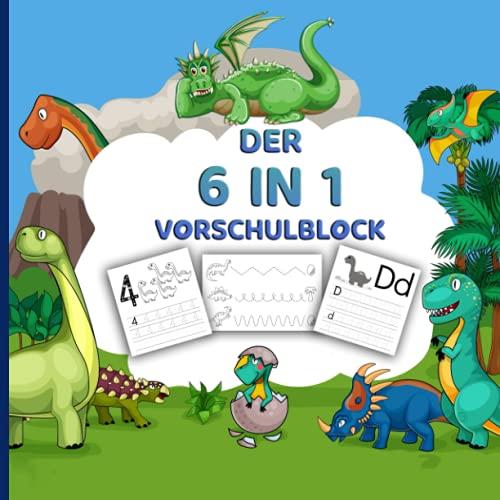 Vorschulblock ab 5: Vorschulbuch für Kinder ab 5! Schwungübungen, Malen nach Zahlen, Punkt zu Punkt, Zahlen 1-20 und Buchstaben lernen. Das Mitmachbuch für Kinder im Kindergarten!