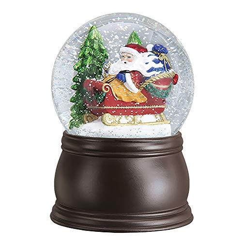 Old World Christmas Santa in Sleigh Snow Globe