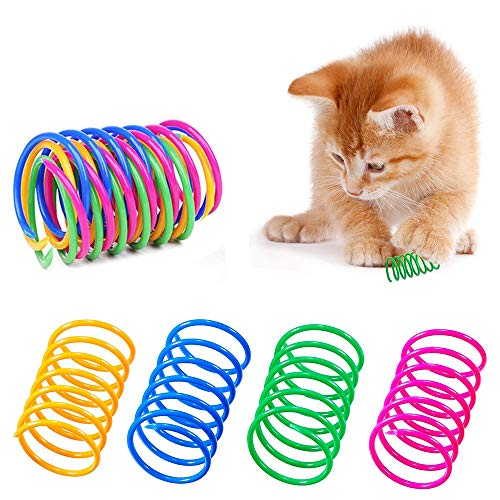 AMACOAM Cat Spring Toy 20 Pieces Colorful Spring Cat Toy Cat Toys for...