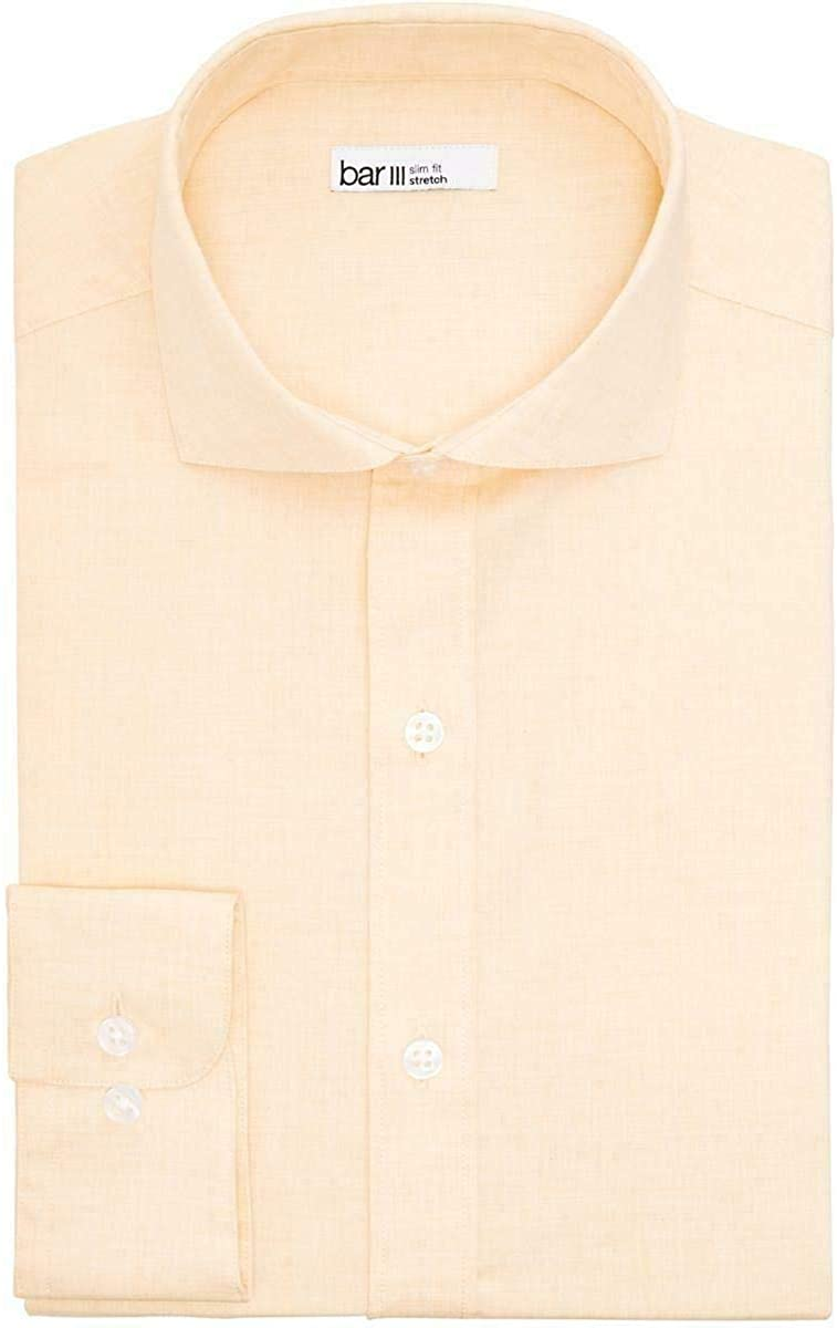 bar III Mens Brets Slim Fit Easy Care Button-Down Shirt