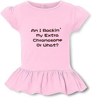 Am I Rockin' My Extra Chromosome Or What? Short Sleeve Cotton Girly T-Shirt