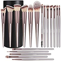 PROFESSIONAL MAKEUP BRUSH SET: Cover 18pcs brushes for Eye Shadow, Crease Shadow, Concealer, Blush, Foundation, Pressed or Loose Powders, Highlighter & Eyebrows. Ideally for applying, blending and shading products. Easy and convenient for daily makeu...