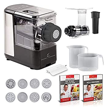 EMERIL LAGASSE Pasta & Beyond Automatic Pasta and Noodle Maker with Slow Juicer - 8 Pasta Shaping Discs Black