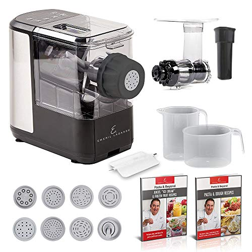 Emeril Lagasse Pasta amp Beyond Automatic Pasta and Noodle Maker with Slow Juicer  8 Pasta Shaping Discs Black