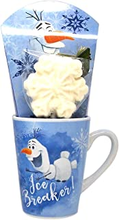 Disney Frozen 2 Olaf Themed Mug with Marshmallow Stirrer and Hot Cocoa Mix, 1.88 Ounce