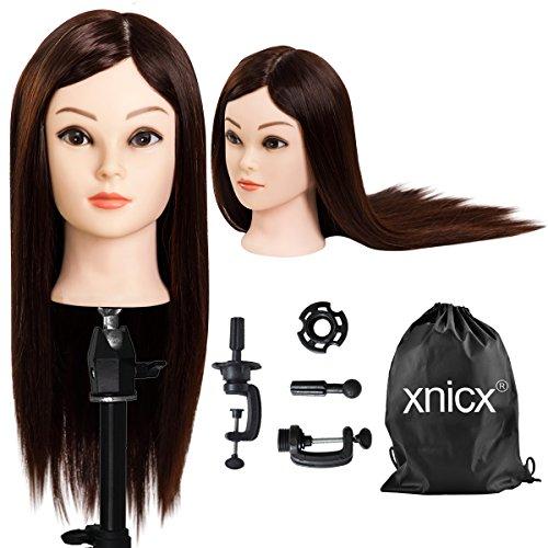 xnicx Treppiedi regolabile in acciaio INOX, Acconciatura Regolabile Treppiede per formazione parrucchieri con manichino, con borsa per il trasporto