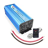 BELTTT 2000W Pure Sine Wave Power Inverter with Remote Switch 12V DC to 110 V AC with 4 AC Outlets and LCD Display and 1 USB...