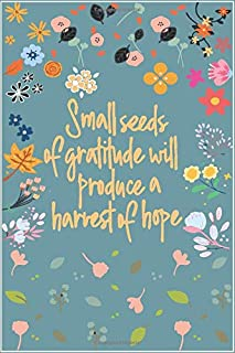 Small Seeds of Gratitude Will Produce A Harvest Of Hope: A Simple Journal to Practice Gratitude for the Beginners for New ...