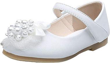 Zapatos Niña, Princesa Zapatos Niña Sandalias Perlas Calzado Infantil Zapatos Comunion Boda